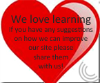 love learning button